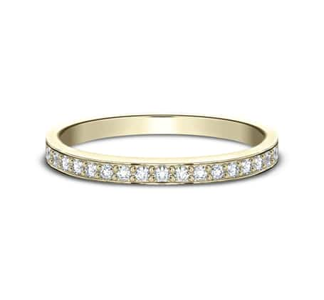 522800Y P3 - YELLOW GOLD 2MM  PAVE SET DIAMOND BAND 522800Y