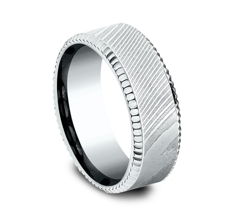 CF348527DSW P2 - WHITE GOLD 8MM  DESIGN BAND CF348527DSW