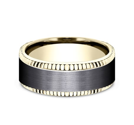 CF448527BKTY P3 - YELLOW GOLD 8MM  DESIGN BAND CF448527BKTY
