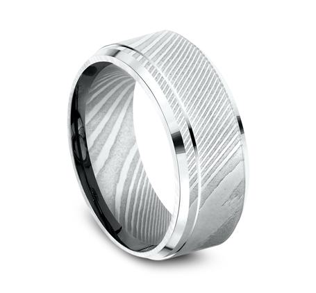 CF69486DS P2 - 9MM DAMASCUS  STEEL GOLD BAND CF69486DS