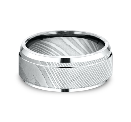 CF69486DS P3 - 9MM DAMASCUS  STEEL GOLD BAND CF69486DS