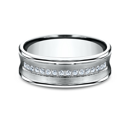 CF717593W P3 - 7.5MM  WHITE GOLD DIAMOND BAND CF717593W