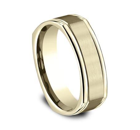 EURECF7702SY P2 - YELLOW GOLD 7MM  COMFORT-FIT DESIGN BAND EURECF7702SY