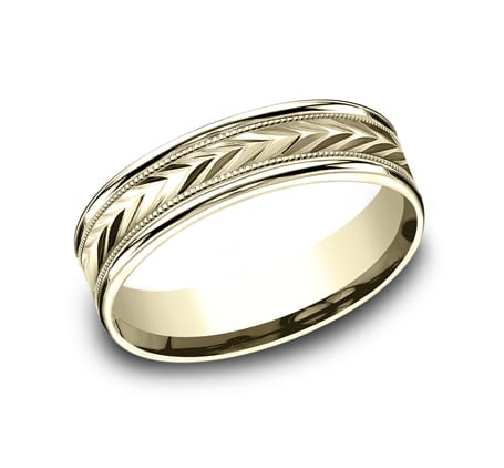 RECF7603Y P1 - 6MM YELLOW GOLD  DESIGN BAND RECF7603Y