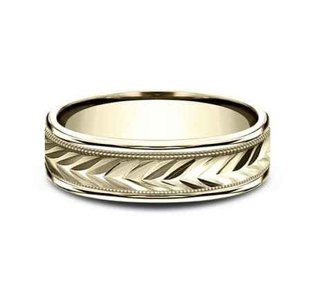 RECF7603Y P3 - 6MM YELLOW GOLD  DESIGN BAND RECF7603Y
