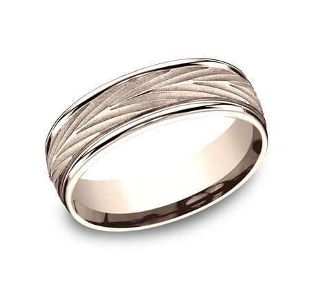 RECF77337R P1 - 7MM ROSE GOLD  BAND RECF77337R