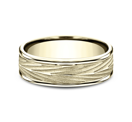 RECF77337Y P3 - 7MM YELLOW GOLD  BAND RECF77337Y