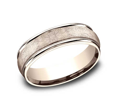 RECF86585R P1 1 - 6.5 MM  ROSE GOLD BAND