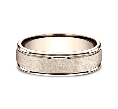 RECF86585R P3 - 6.5 MM  ROSE GOLD BAND