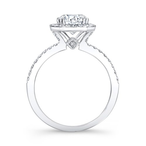 18K WHITE GOLD DIAMOND HALO ENGAGEMENT RING FM26914 18W 1 - 18K WHITE GOLD DIAMOND HALO ENGAGEMENT RING FM26914-18W