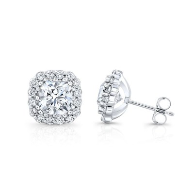 18K WHITE GOLD FOREVERMARK® DIAMOND EARRINGS FM32205 18W - 18K WHITE GOLD FOREVERMARK® DIAMOND EARRINGS FM32205-18W