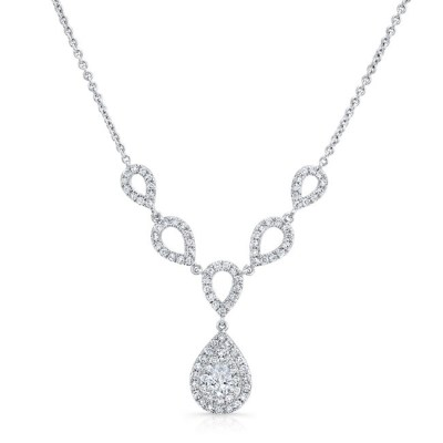 18K WHITE GOLD FOREVERMARK® DIAMOND NECKLACE FM33080 18W - 18K WHITE GOLD FOREVERMARK® DIAMOND NECKLACE FM33080-18W