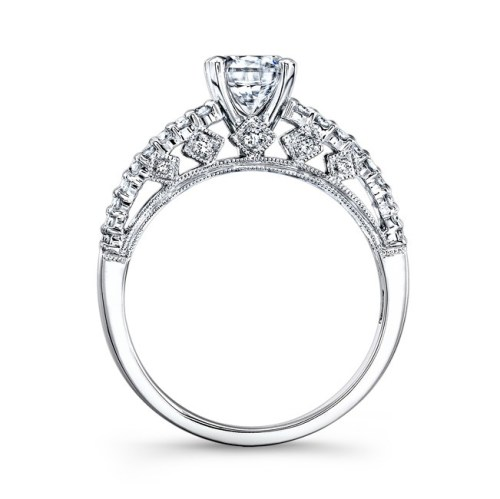 18K WHITE GOLD PAVE BEZEL SET WHITE DIAMOND ENGAGEMENT RING NK26124 W 1 - 18K WHITE GOLD PAVE BEZEL SET WHITE DIAMOND ENGAGEMENT RING NK26124-W