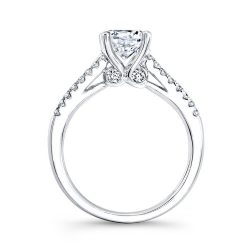 18K WHITE GOLD PRONG AND CHANNEL WHITE DIAMOND ENGAGEMENT RING NK23626 W 1 - 18K WHITE GOLD PRONG AND CHANNEL WHITE DIAMOND ENGAGEMENT RING NK23626-W