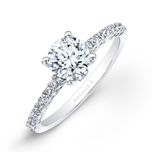 18K WHITE GOLD PRONG DIAMOND ENGAGEMENT RING NK26151 W - 18K WHITE GOLD PRONG DIAMOND ENGAGEMENT RING NK26151-W