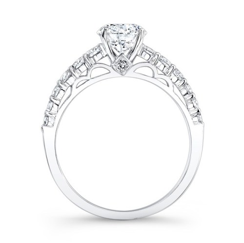18K WHITE GOLD SCALLOPED METAL WORK ENGAGEMENT RING FM26992 18W 1 - 18K WHITE GOLD SCALLOPED METAL WORK ENGAGEMENT RING FM26992-18W