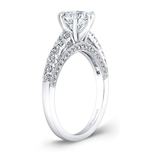 18K WHITE GOLD SIX PRONG CENTER MOUNTING DIAMOND GALLERY ENGAGEMENT RING NK27715 18W 1 - 18K WHITE GOLD SIX PRONG CENTER MOUNTING DIAMOND GALLERY ENGAGEMENT RING NK27715-18W