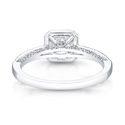18K WHITE GOLD SQUARE HALO ENGAGEMENT RING FM27547 18W 2 - 18K WHITE GOLD SQUARE HALO ENGAGEMENT RING FM27547-18W