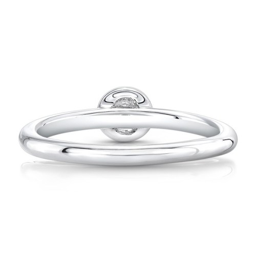 18K WHITE GOLD THREE STONE STACKABLE BANDS FM29106 18W 4 - 18K WHITE GOLD THREE STONE STACKABLE BANDS FM29106-18W