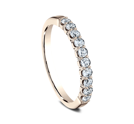 2.5MM ROSE GOLD CRESCENT SHARED PRONG DIAMOND BAND 5925344R 1 - 2.5MM ROSE GOLD CRESCENT SHARED PRONG DIAMOND BAND  5925344R