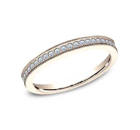 2.5MM ROSE GOLD DIAMOND BAND 5425730R - 2.5MM ROSE GOLD DIAMOND BAND 5425730R