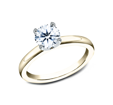 2.5MM YELLOW GOLD BASIC SOLITAIREL ENGAGEMENT RING - 2.5MM YELLOW GOLD BASIC SOLITAIREL ENGAGEMENT RING LCBSA-LHRD100-Y