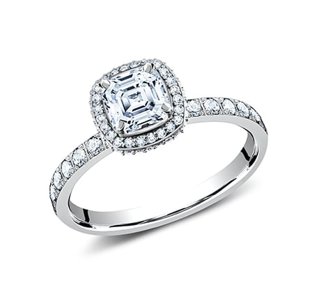 2MM PLATINUM PAVE SET ENGAGEMENT SET LCPA2 CSHSET PT 1 - 2MM PLATINUM PAVE SET ENGAGEMENT SET LCPA2-CSHSET-PT