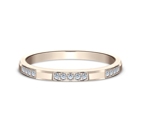 2MM ROSE GOLD DIAMOND BAND FEATURES 25 PAVE SET 522851R 2 - 2MM ROSE GOLD DIAMOND BAND FEATURES 25 PAVE' SET 522851R