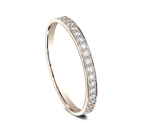 2MM ROSE GOLD PAVE SET DIAMOND BAND 522800R 1 - 2MM ROSE GOLD PAVE' SET DIAMOND BAND 522800R
