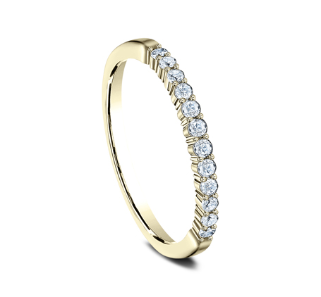 2MM YELLOW GOLD SHARED PRONG DIAMOND BAND 552621Y 1 - 2MM YELLOW GOLD SHARED PRONG DIAMOND BAND 552621Y