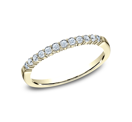 2MM YELLOW GOLD SHARED PRONG DIAMOND BAND 552621Y - 2MM YELLOW GOLD SHARED PRONG DIAMOND BAND 552621Y