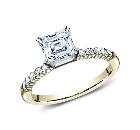 2MM YELLOW GOLD SHARED PRONG ENGAGEMENT SET SPA2 SPLSET Y 1 - 2MM YELLOW GOLD SHARED PRONG ENGAGEMENT SET SPA2-SPLSET-Y