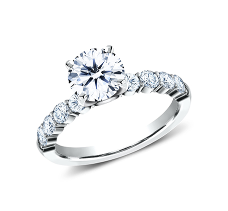 3MM PLATINUM SHARED PRONG ENGAGEMENT RING SPA8 LHRD100 PT - 3MM PLATINUM SHARED PRONG ENGAGEMENT RING SPA8-LHRD100-PT