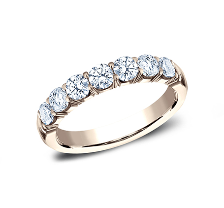 3MM ROSE GOLD CRESCENT SHARED PRONG DIAMOND BAND 5935645R - 3MM ROSE GOLD CRESCENT SHARED PRONG DIAMOND BAND  5935645R