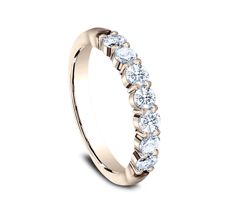 3MM ROSE GOLD SHARED PRONG DIAMOND BAND 5535015R 1 - 3MM ROSE GOLD SHARED PRONG DIAMOND BAND 5535015R