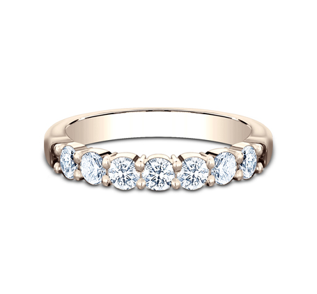 3MM ROSE GOLD SHARED PRONG DIAMOND BAND 5535015R 2 - 3MM ROSE GOLD SHARED PRONG DIAMOND BAND 5535015R