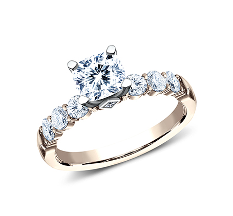 3MM ROSE GOLD SHARED PRONG ENGAGEMENT SET SPA11 ACSET R 1 - 3MM ROSE GOLD SHARED PRONG ENGAGEMENT SET SPA11-ACSET-R