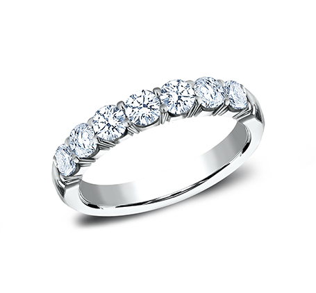 3MM WHITE GOLD CRESCENT SHARED PRONG DIAMOND BAND 5935645W - 3MM WHITE GOLD CRESCENT SHARED PRONG DIAMOND BAND 5935645W