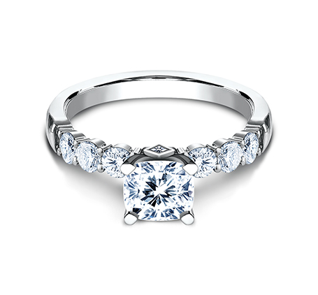 3MM WHITE GOLD SHARED PRONG ENGAGEMENT SET SPA11 ACSET W 2 - 3MM WHITE GOLD SHARED PRONG ENGAGEMENT SET SPA11-ACSET-W