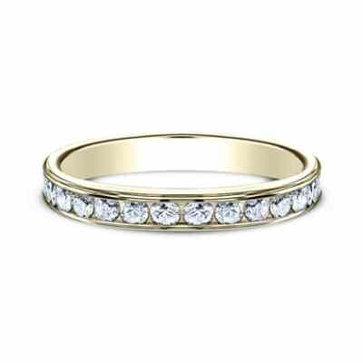3MM YELLOW GOLD CHANNEL SET DIAMOND BAND 513525Y 2 - 3MM YELLOW GOLD CHANNEL SET DIAMOND BAND 513525Y
