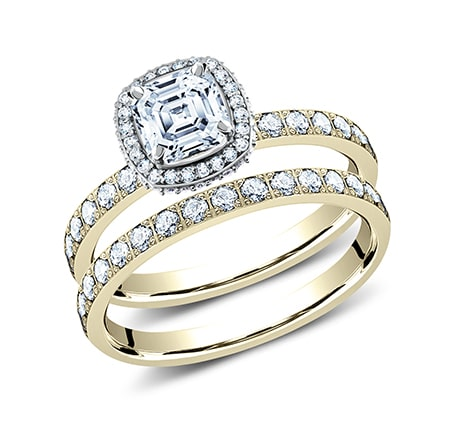 3MM YELLOW GOLD PAVE SET ENGAGEMENT SET LCPA2 CSHSET Y - 3MM YELLOW GOLD PAVE SET ENGAGEMENT SET LCPA2-CSHSET-Y
