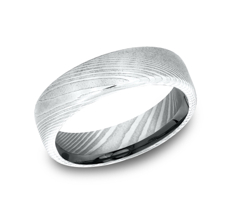 6.5MM DAMASCUS STEEL BAND EUCF165DS - 6.5MM DAMASCUS STEEL BAND EUCF165DS