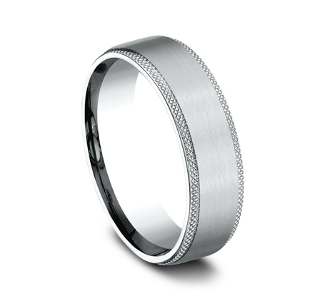 6.5MM WHITE GOLD COMFORT FIT BAND 1 - 6.5MM WHITE GOLD COMFORT-FIT BAND CF4965749W
