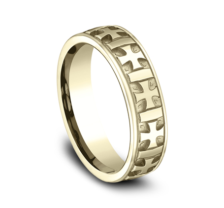 6MM COMFORT FIT CARVED DESIGN BAND CF56401Y 1 - 6MM COMFORT-FIT CARVED DESIGN BAND CF56401Y