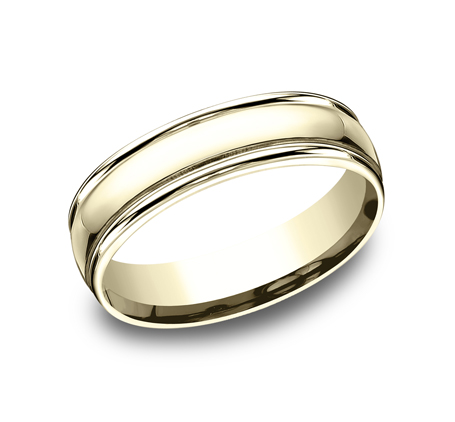 6MM COMFORT FIT HIGH POLISHED CARVED DESIGN BAND CF15608Y - 6MM COMFORT-FIT HIGH POLISHED CARVED DESIGN BAND CF15608Y