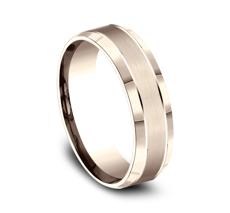 6MM COMFORT FIT SATIN FINISHED CARVED DESIGN BAND CF66436R 1 - 6MM COMFORT-FIT SATIN-FINISHED CARVED DESIGN BAND CF66436R