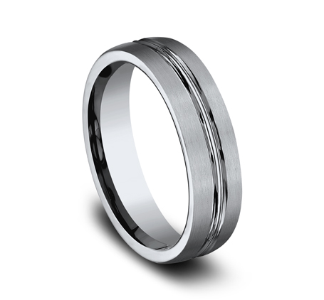6MM TITANIUM COMFORT FIT SATIN FINISHED BAND 560T 1 - 6MM TITANIUM COMFORT-FIT SATIN-FINISHED BAND 560T