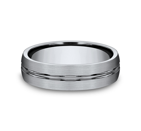 6MM TITANIUM COMFORT FIT SATIN FINISHED BAND 560T 2 - 6MM TITANIUM COMFORT-FIT SATIN-FINISHED BAND 560T