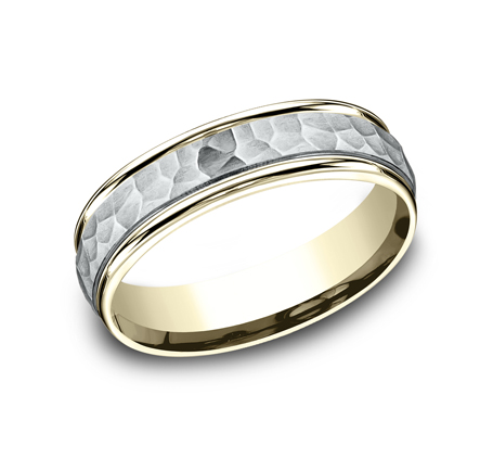 6MM TWO TONED CARVED DESIGN BAND CF156303 - 6MM TWO-TONED CARVED DESIGN BAND CF156303