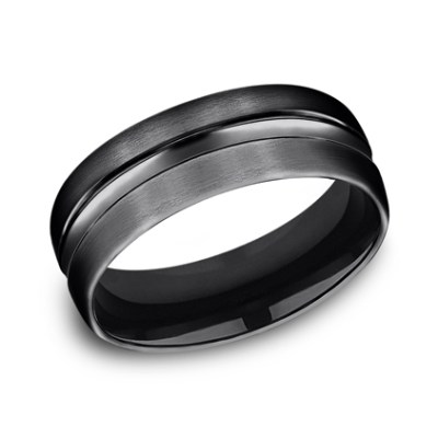 7.5MM BLACK TITANIUM COMFORT FIT BAND CF717505BKT - 7.5MM BLACK TITANIUM COMFORT-FIT BAND CF717505BKT